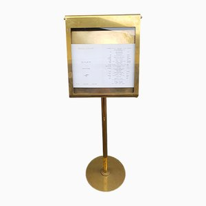 Solid Brass Magazine Rack from Akram, 2000s