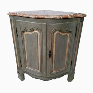 Vintage Louis XVI Style Walnut Corner Cabinet, 1940s