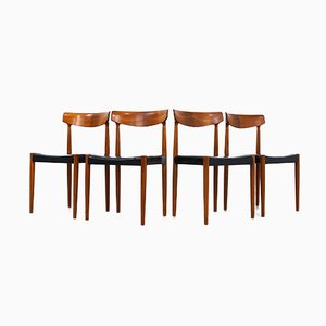 Vintage Teak Dining Chairs by Knud Faerch for Bovenkamp, 1960s, Set of 4