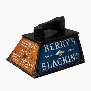 Antique Berrys Boot Polish Shoe Shine Box