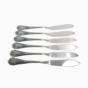 Silver Model Marly Fish Knives from Christofle, 1930s, Set of 6