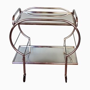 Mid-Century French Chromed Trolley, 1950s