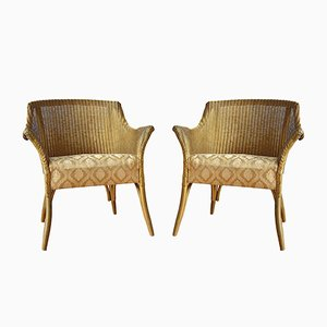 Lloyd Loom Side Chairs from Lusty, 1950s, Set of 2