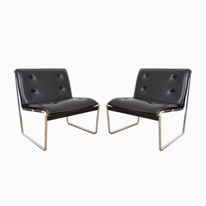 Mid-Century German Lounge Chairs, 1970s, Set of 2