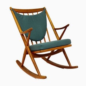 Teak Rocking Chair by Frank Reenskaug for Bramin, 1950s