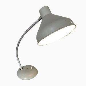 Mid-Century Light Gray Table Lamp, 1950s