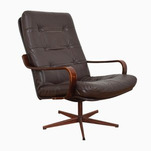 Mid-Century German Rosewood Desk Chair, 1970s