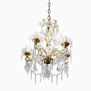 Vintage Maria Theresa Style Crystal Pendant Lamp, 1930s