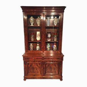 19th Century French Walnut Display Bookcase
