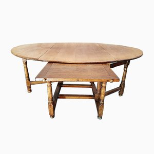 Antique Castle Drop Leaf Dining Table