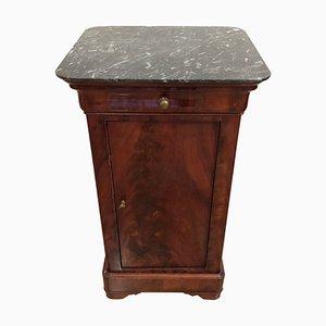 Antiker französischer Louis Philippe Nachttisch, 1860er