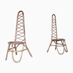 Mid-Century Bambus Stühle, 2er Set
