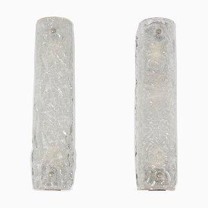 Ice Glass Sconces, 1960s, Set of 2