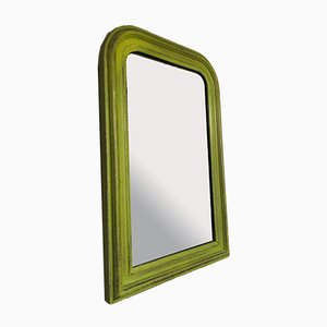 Antique French Green Mirror, 1920s