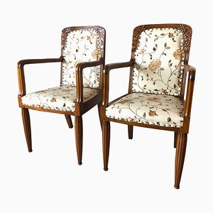 Art Nouveau French Armchairs, 1910s, Set of 2