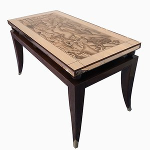 Art Deco French Coffee Table in the Style of Pascaud, 1940s