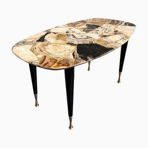 Tavolino da caffè Mid-Century in marmo mosaicato, Italia, anni '50