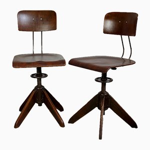 Industrial Swivel Chairs by Robert Wagner for Rowac, 1930s, Set of 2