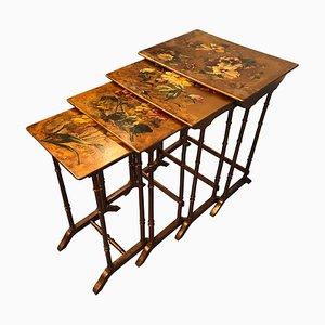 Art Nouveau French Gigognes Coffee Tables, Set of 4