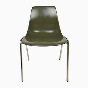 German Fiberglas Stacking Chair by Georg Leowald for Wilkhahn, 1950s