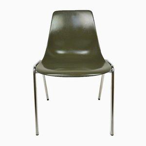 German Fiberglas Stacking Chair by Georg Leowald for Wilkhahn, 1950s