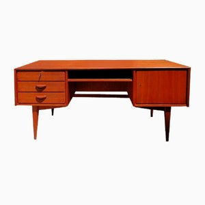 Teak Desk with Drawers and Bookcase, 1960s
