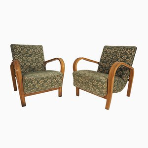 Lounge Chairs by Jindřich Halabala for Interier Praha, 1950s, Set of 2