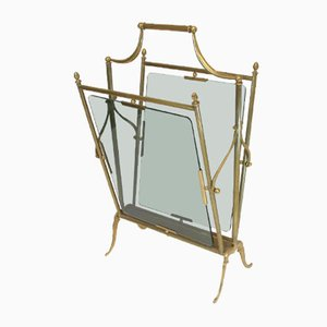 French Magazine Rack from Maison Jansen, 1940s