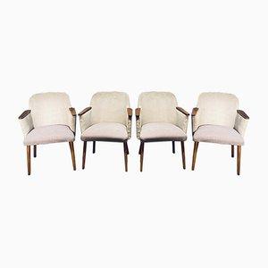Vintage German Armchairs from Oscar Schafner, 1960s, Set of 4