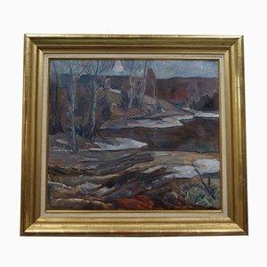 Swedish Modern Oil Painting by Hugo Carlberg, 1920s