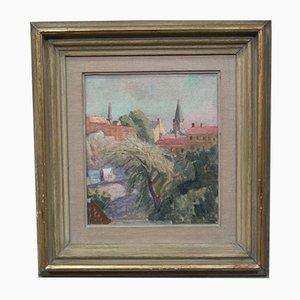 Swedish Oil Painting from Ellis Wallin, 1952