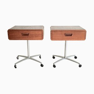 Mid-Century Danish Nightstands, Set of 2
