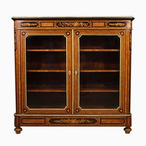 French Inlaid Rosewood Bookcase, 1920s