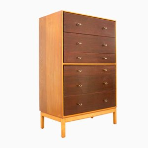 Mid-Century Walnut and Teak Chest of Drawers by John & Sylvia Reid for Stag, 1960s