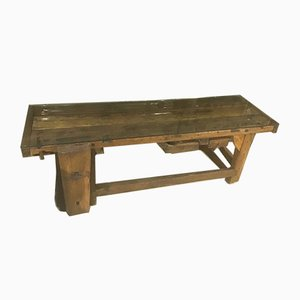 Antique Italian Wooden Worktable from Officina di Ricerca, 1900s