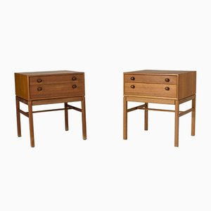 Teak Nightstands by Sven Engström & Gunnar Myrstrand for Tingströms, 1960s, Set of 2
