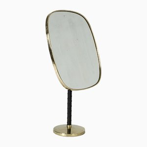 Brass Table Mirror by David Rosén for Nordiska Kompaniet, 1950s
