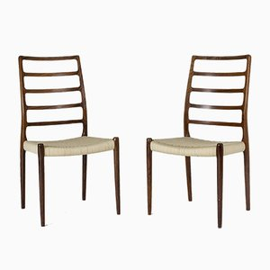 Rosewood Dining Chairs by Niels Otto Møller for J.L. Møllers, 1950s, Set of 10