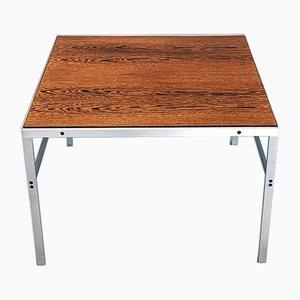 Table d'Appoint Vintage en Wengé et en Acier par Preben Fabricius & Jørgen Kastholm pour Bo-Ex, 1960s