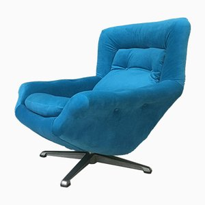 Vintage Blue Egg Armchair