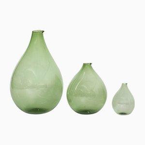 Glass Vases by Kjell Blomberg for Gullaskruf, 1950s, Set of 3