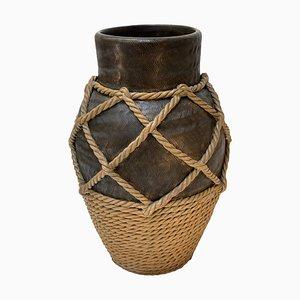 Vaso grande o portaombrelli Mid-Century in ceramica di Figli E Zaccagnini, Italia, anni '40