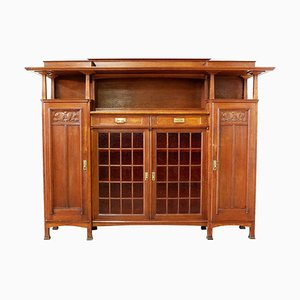 Art Nouveau French Oak Cabinet