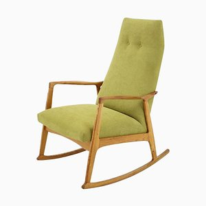 Mid-Century Danish Beechwood Rocking Chair, 1960s