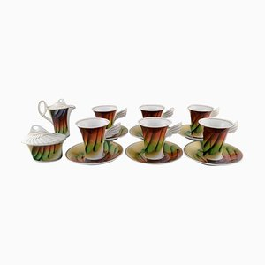 Mythos Coffee Cups with Saucers by Paul Wunderlich for Rosenthal, 1980s, Set of 14