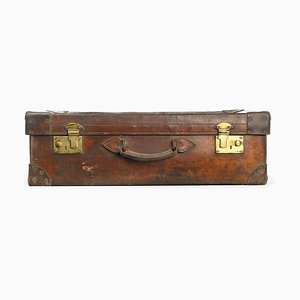 English Leather Suitcase, 1920s