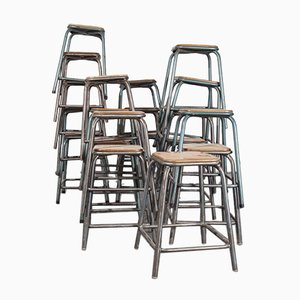 French Industrial Stacking High Stool from Mullca, 1950s