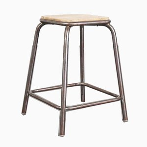 French Industrial Stacking High Stools from Mullca, 1950s, Set of 6