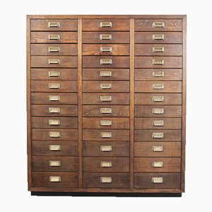 Oak Apothecary Multi-Drawer Chest of Drawers, Germany, 1950s