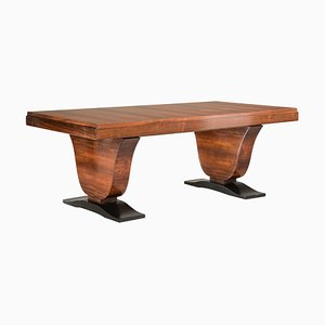 Art Deco Rosewood Extendable Rectangular Side Table, 1930s